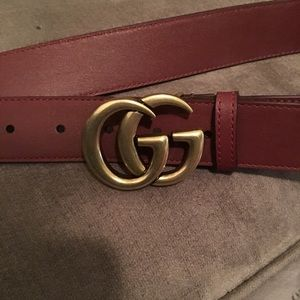 Gucci Belt- Dark Red **Rare Color**Stunning ❤️